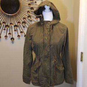 Love Tree army green utility jacket